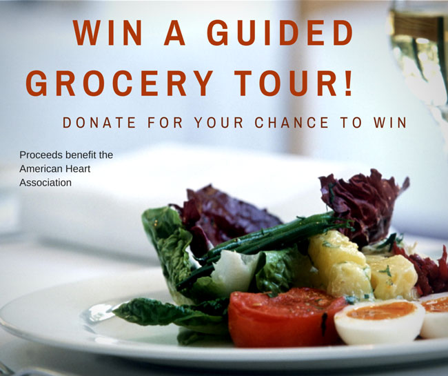 Support GoRed and Win a Guided Grocery Tour!