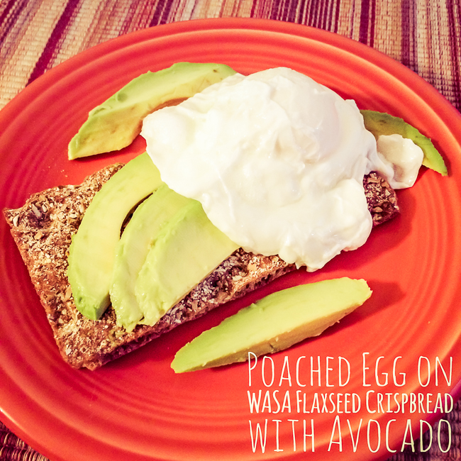 Poached Egg on a WASA Flaxseed Crispbread with Avocado
