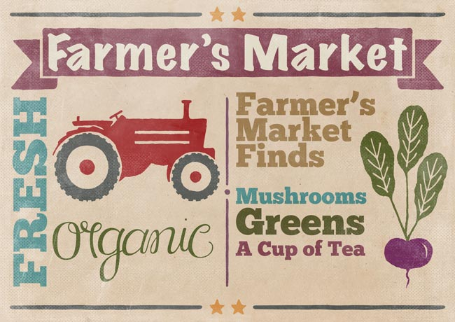 Farmers Market Finds: Mushrooms, Greens and A Cup of Tea