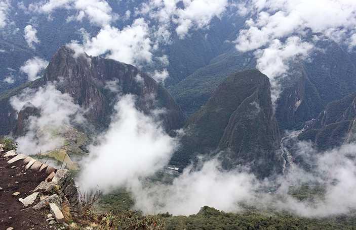 Machu Picchu from Machu Picchu Mountain