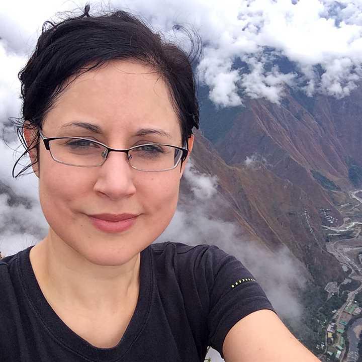 Pamela on Machu Picchu Mountain