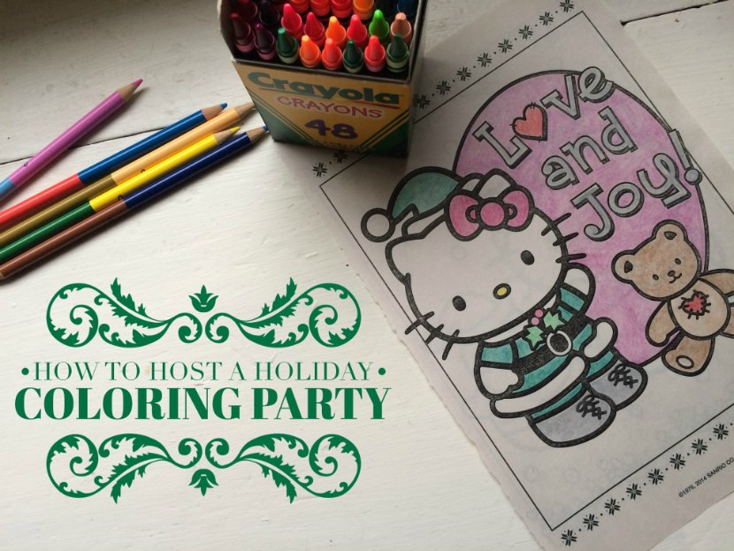 How To Host A Holiday Coloring Party In 3 Easy Steps