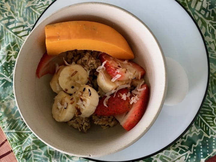 vegetarian breakfast bowl