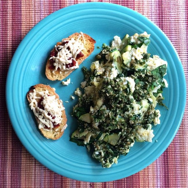 Green Eggs (NO Ham) and Gluten Free Bruschetta Recipe