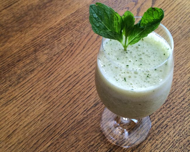 Kiwi Cooler Post Workout Protein Smoothie Recipe