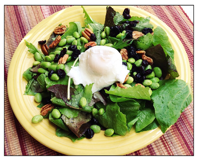 Poached Egg and Autumn Greens Salad Recipe