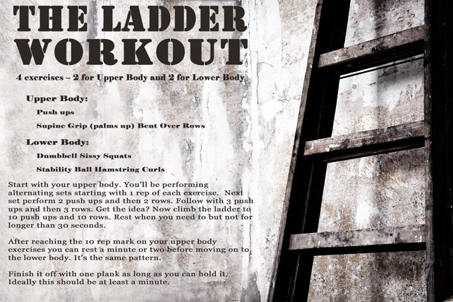The Ladder Workout - As Seen in Oxygen Magazine!